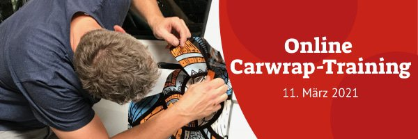 Online Carwrap-Training - 11. März